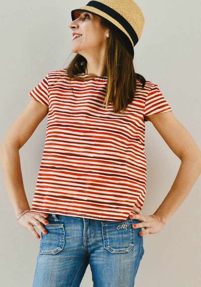 Blusa righe rosse